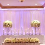 Large Floral Arrangements on Head Table