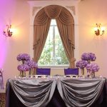Purple and SIlver Sweetheart Table
