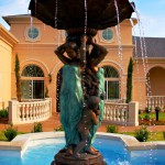 Mediterranean Villa Fountain (less sky & sides) new- R