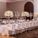 Tall Centerpieces at Large Head Table