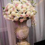 Blush and White Wedding Altar flowers