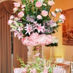 Large Pink and Green Centerpiece
