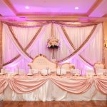Blush and Gold Backdrop