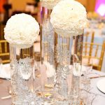 White Carnation Ball Centerpiece