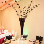 Tall Black and Gold Centerpiece