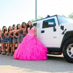 Quinceanera Girl with Damas