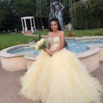 Pale Yellow Quinceanera Dress