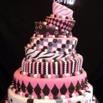 Topsy Turvy Quinceanera Cake