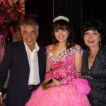 Quinceanera Girl with Parents