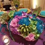 Peacock Theme Centerpiece