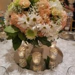 Small Blush and White Centerpiece