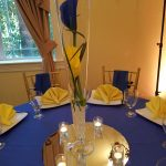 Royal Blue and Yellow Centerpiece
