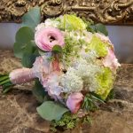 Blush Ranunculus and Eucalyptus Bouquet