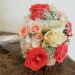 Coral and Peach Bridal Bouquet