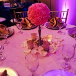 Hot Pink and Gold Centerpiece
