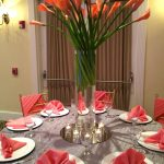 Tall Coral Centerpiece