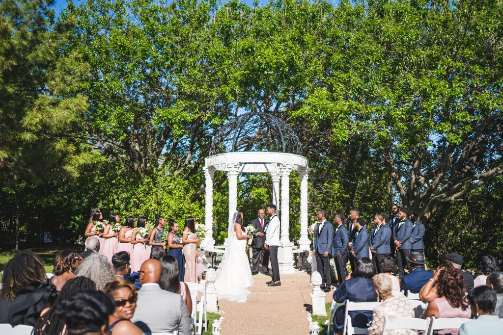 Outdoor ceremony venue in DFW