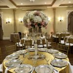 Tall Centerpiece on Gold Table